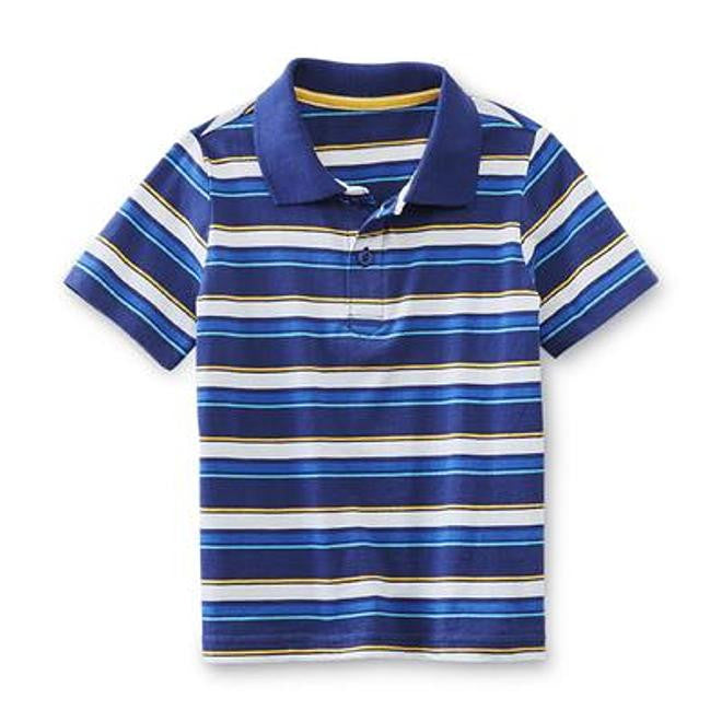 Munchkinz Infant and Toddler Boy's Striped Polo Shirt