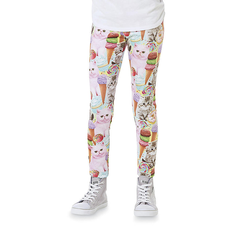 Munchkinz Girls' Sublimated Cats Printed Pants