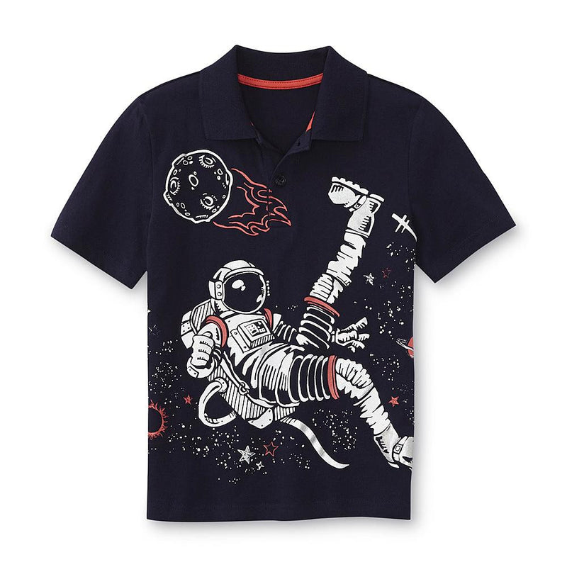 Munchkinz Boy's Graphic Space Polo Shirt