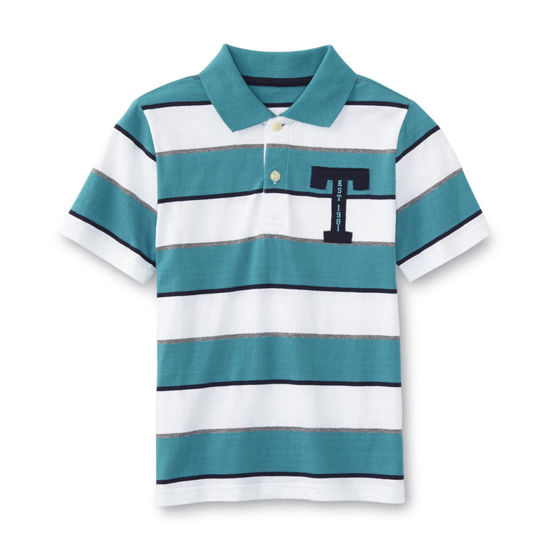 Munchkinz Boy's Knit Striped Polo Shirt