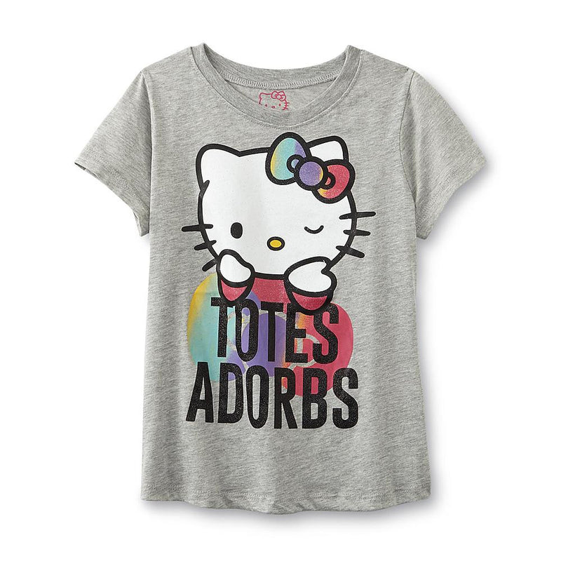 Munchkinz Hello Kitty Girl's Adorbs Printed T-Shirt