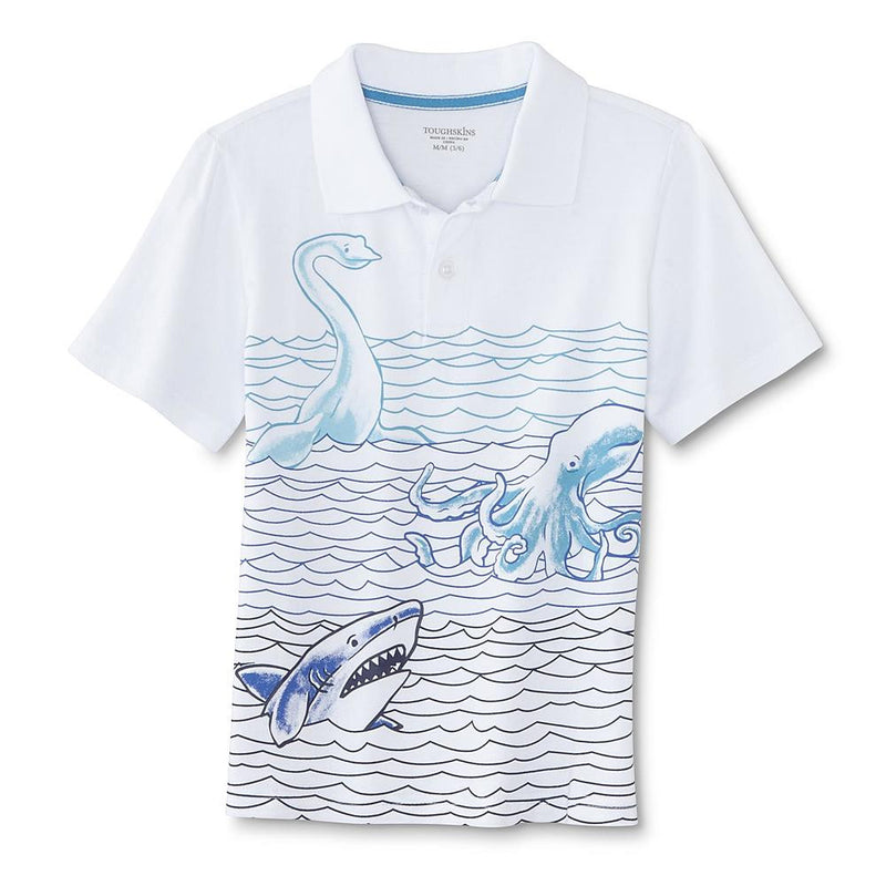 Munchkinz Boy's Graphic Ocean Creatures Polo Shirt