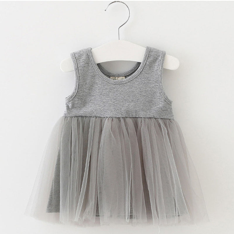 Aww Hunnie Grey Summer Dress