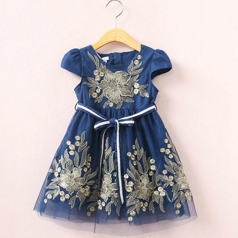 Aww Hunnie Blue Summer A Line Frock