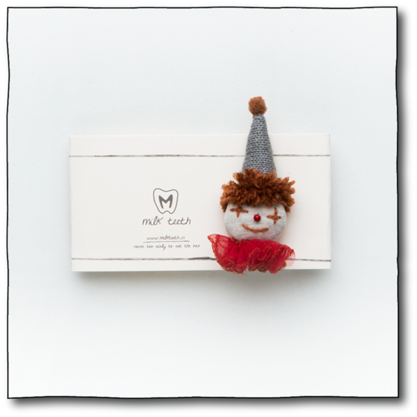 Milk teeth Kids' Red Clown Brooch