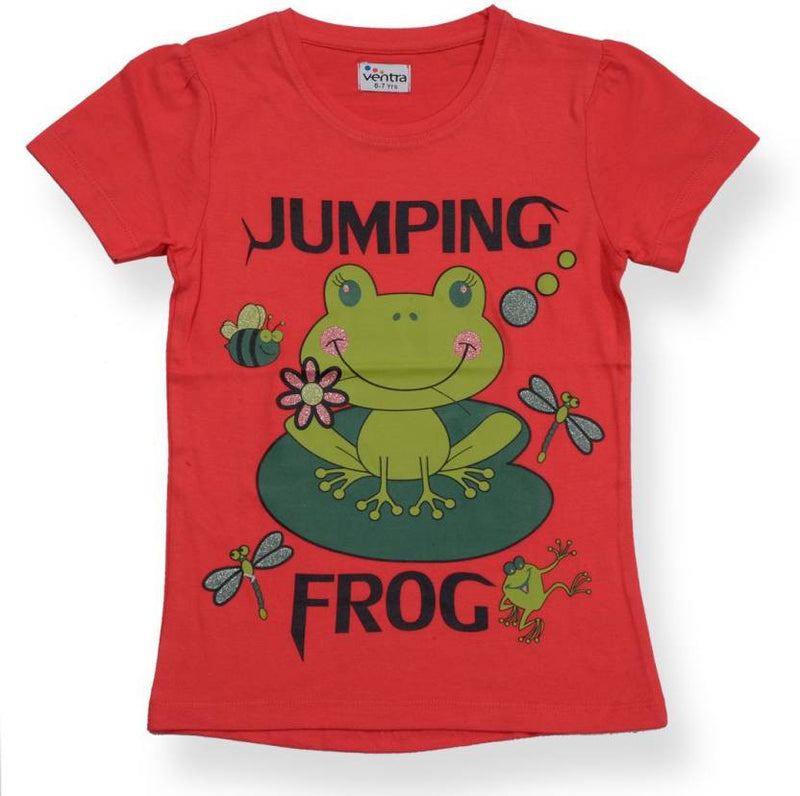 Ventra Girls Jumping Frog Printed Top