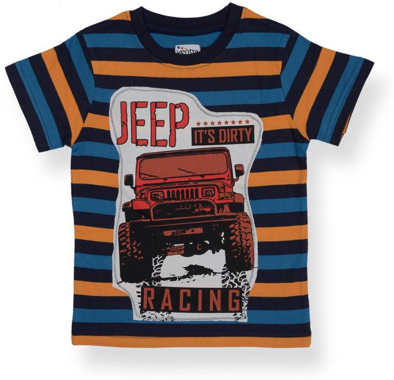 Ventra Boys Riders Jeep Applique T-shirt