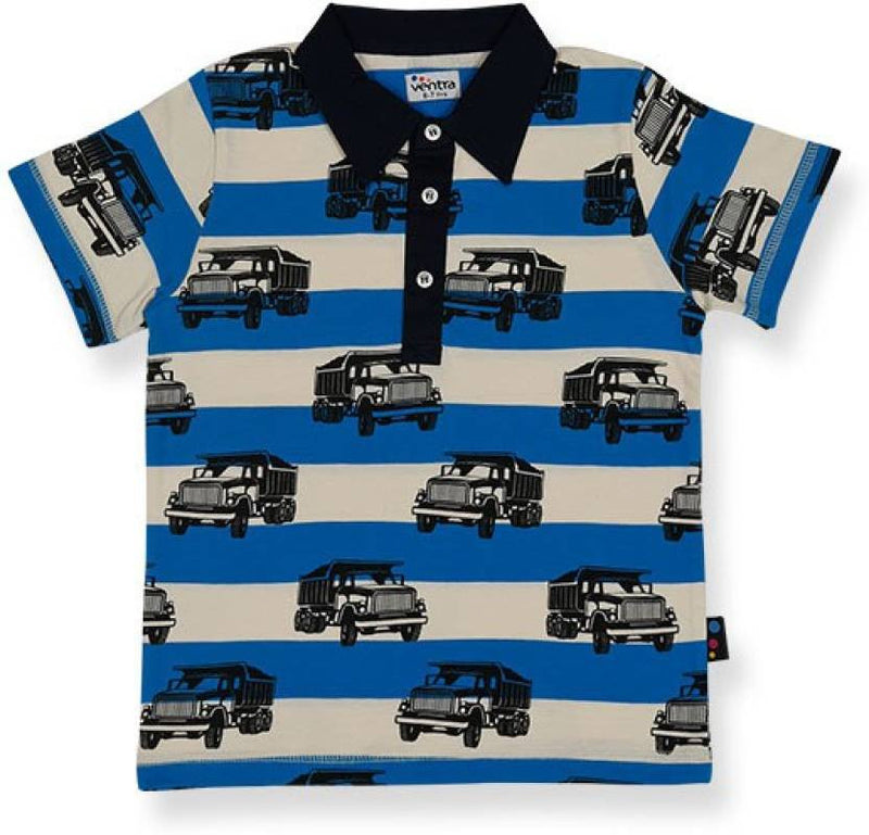 Ventra Boys Allover Truck Printed Polo