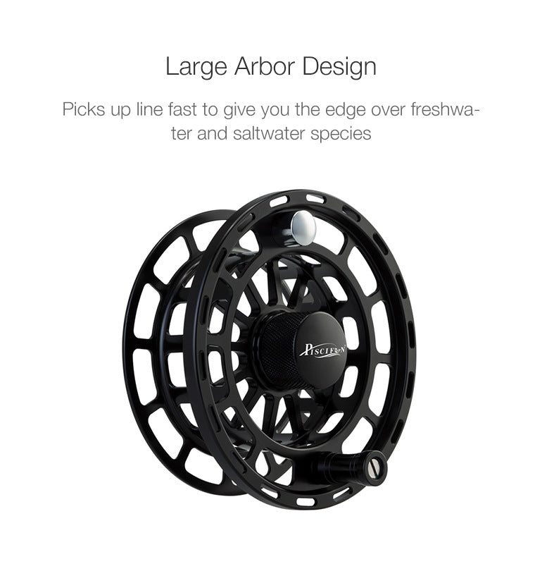 Large Arbor Design pick up line fast over freshwater and saltwater