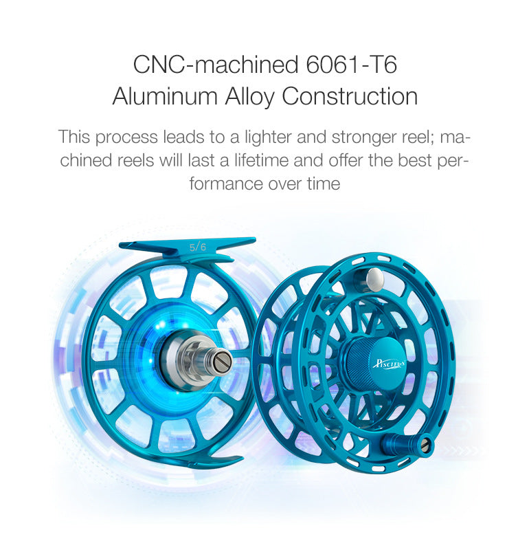 CNC-machined Aluminum alloy reels and spool body