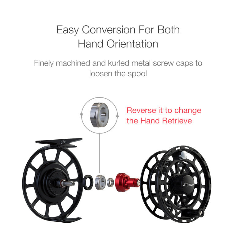 Easily converts to right or left hand retrieve