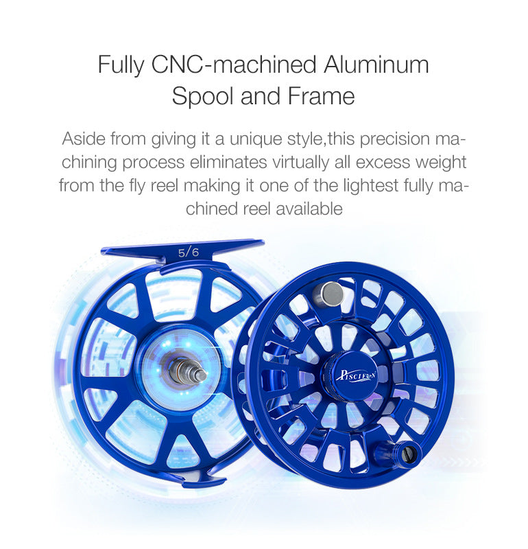 Fully CNC-machined Aluminum spool and frame