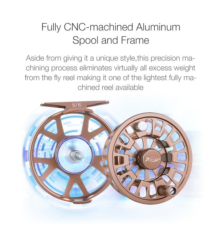 The lightest fully CNC-machined Aluminum spool and frame fly reel