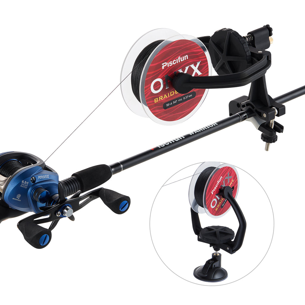 Piscifun® Fishing Reel Line Spooler & Winder Professional Portable Spooling Station