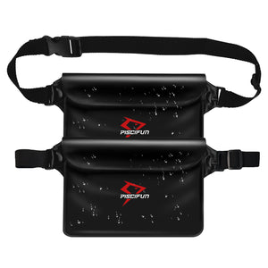Piscifun® 2 Packs Waterproof Pouch Bag with Waist Strap