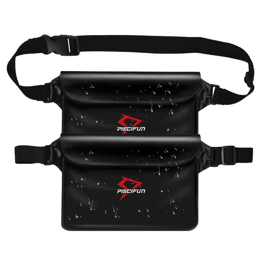 Piscifun® 2 Pcs Waterproof Pouch Bag with Waist Strap
