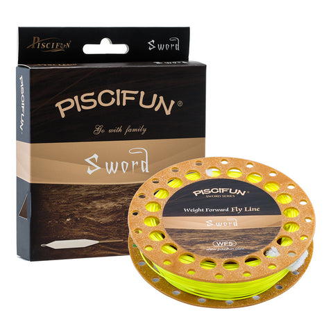 Piscifun Sword Weight Forward Fly Fishing Line Orange, Blue, Yellow