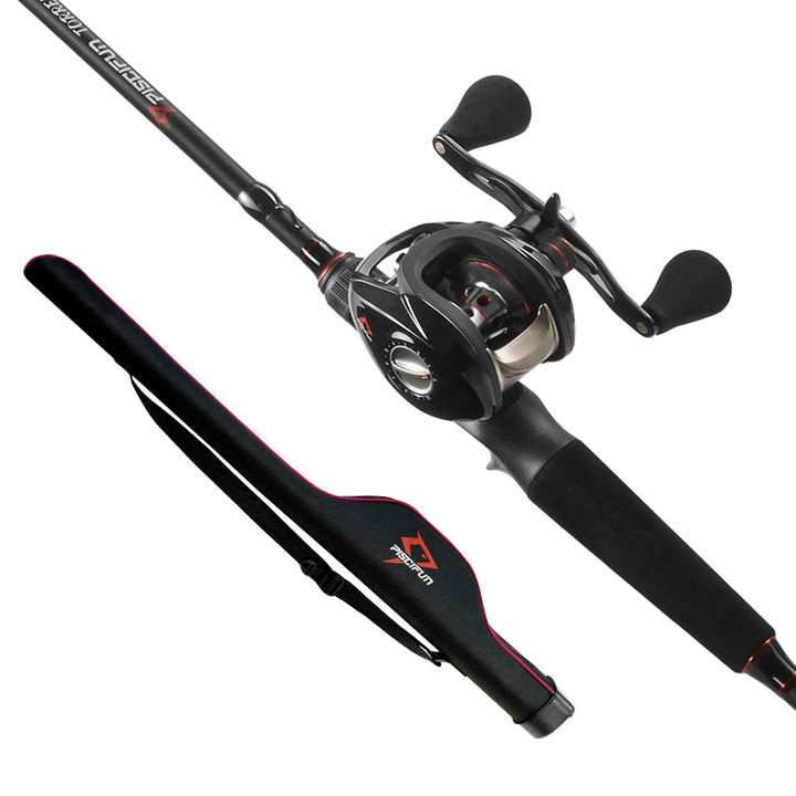 Piscifun Torrent Baitcasting Fishing Rod and Reel Combo with Pole Storage Case Bag