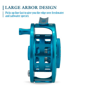Piscifun® PLATTE Fly Fishing Reel Large Arbor Fly Reel Blue