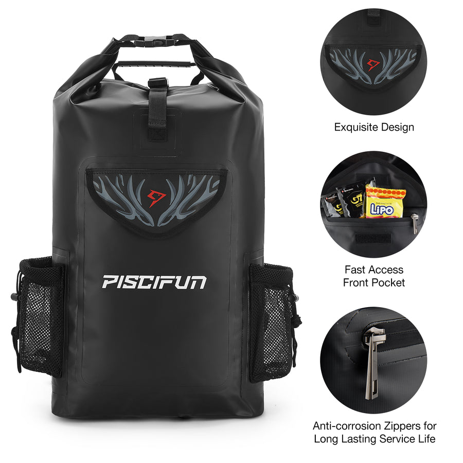 Piscifun® Wrapper Dry Backpack Bag with Waterproof Phone Case