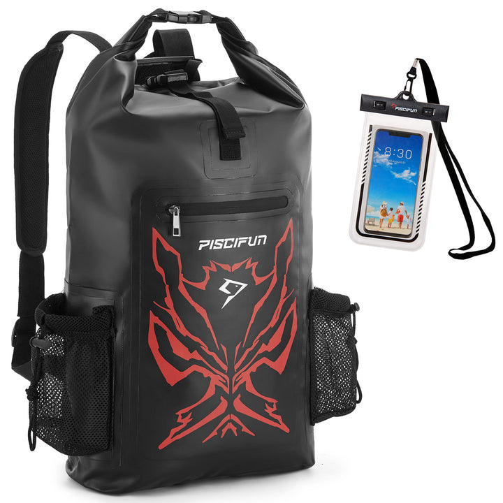 Piscifun Angry Face Dry Bag Dry Backpack with Waterproof Phone Case