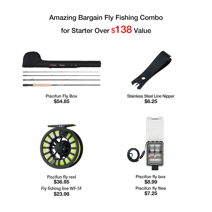 Piscifun® Fly Fishing Kit Combos