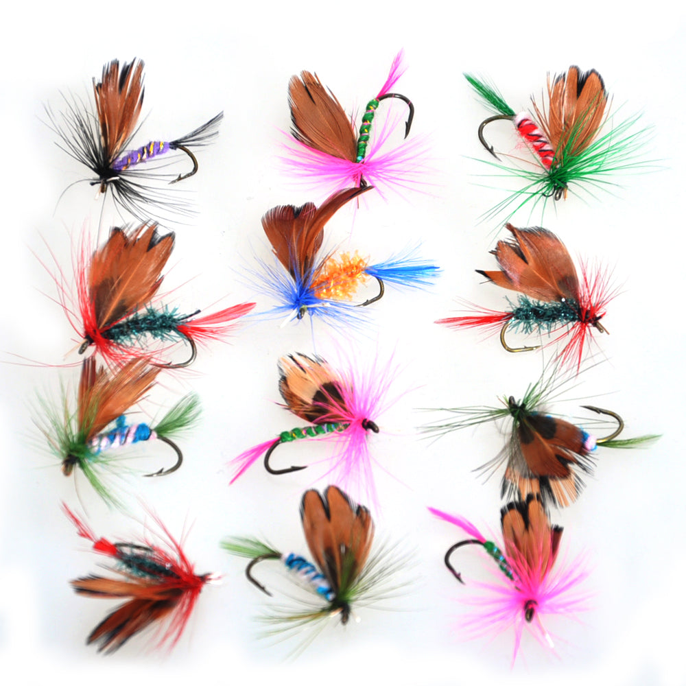 Piscifun 12pcs Fly Fishing Dry Flies