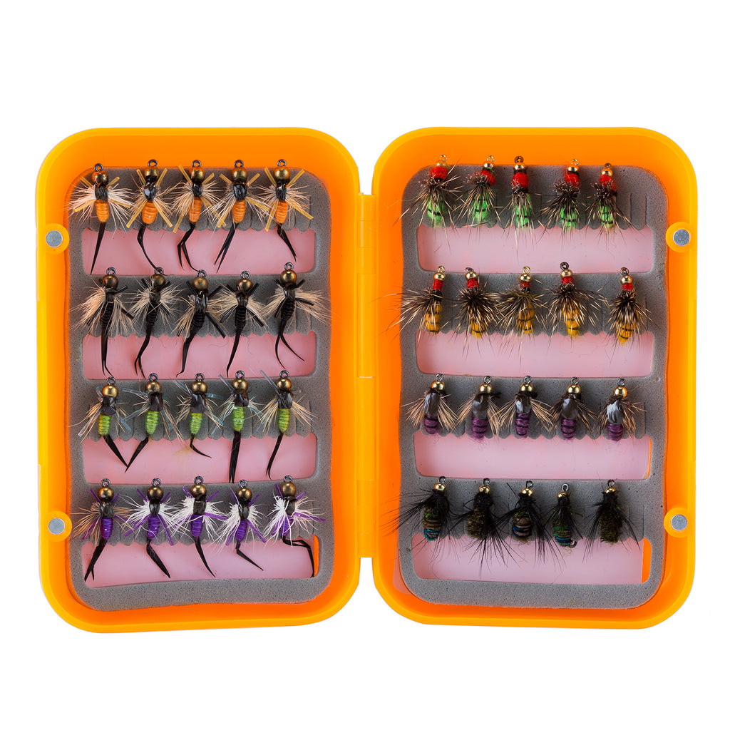 Piscifun® 40pcs Wet Flies Fly Fishing Flies Kit Bass Salmon Trouts Flies Floating / Sinking Assortment with Fly Box