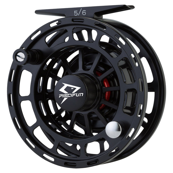Piscifun® PLATTE Fly Fishing Reel Large Arbor Fly Reel Black