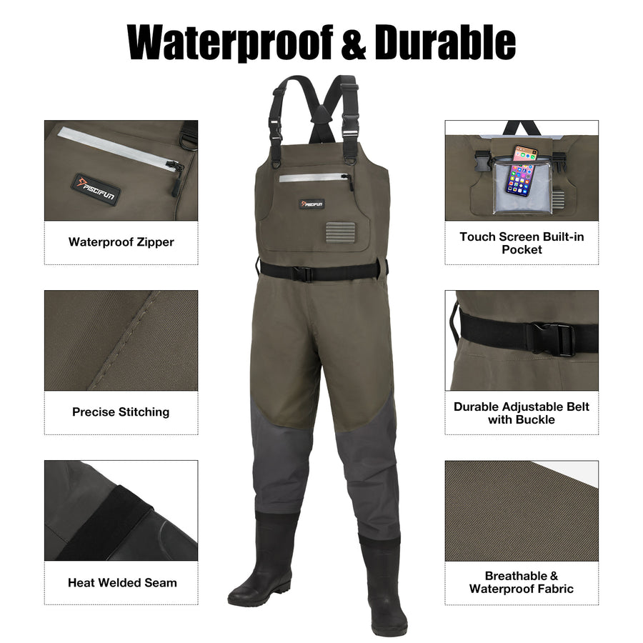 Piscifun® BX Chest Durable Waders