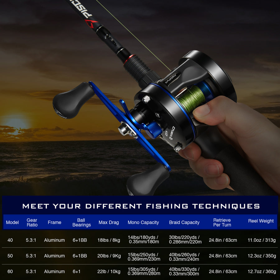 Piscifun® Chaos XS Round Baitcasting Reel Saltwater Fishing Reels