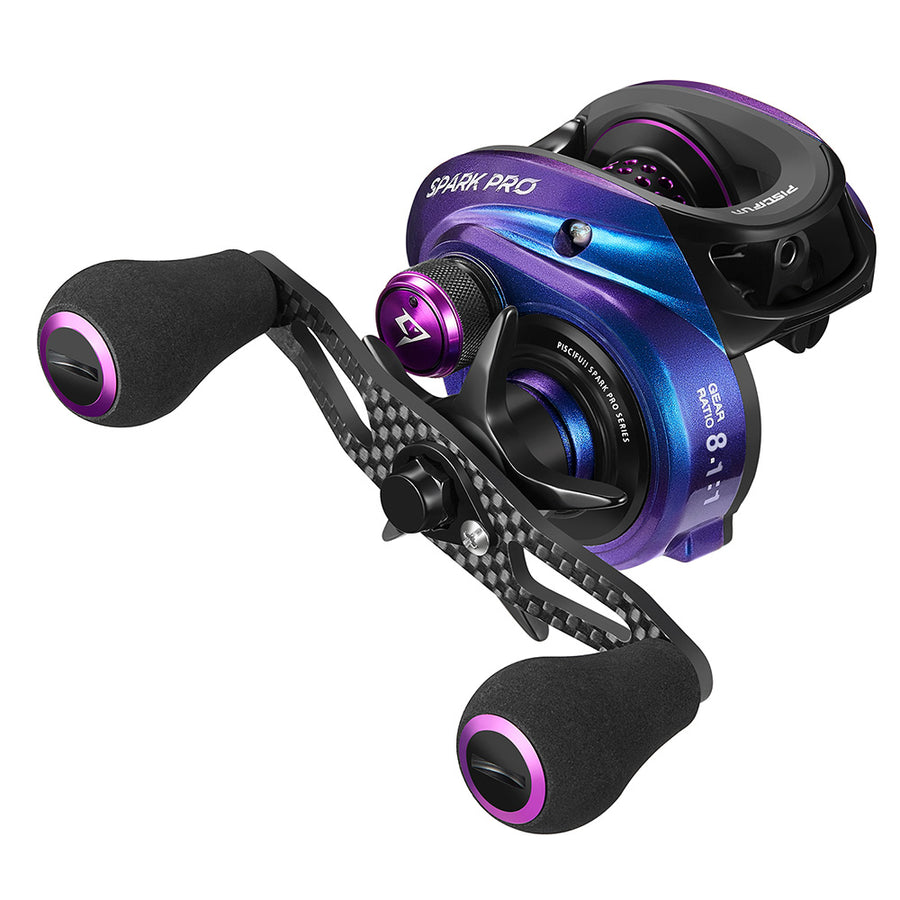 Piscifun® Spark Pro Baitcasting Reel 12 Bearings Low Profile Baitcaster Fishing Reels