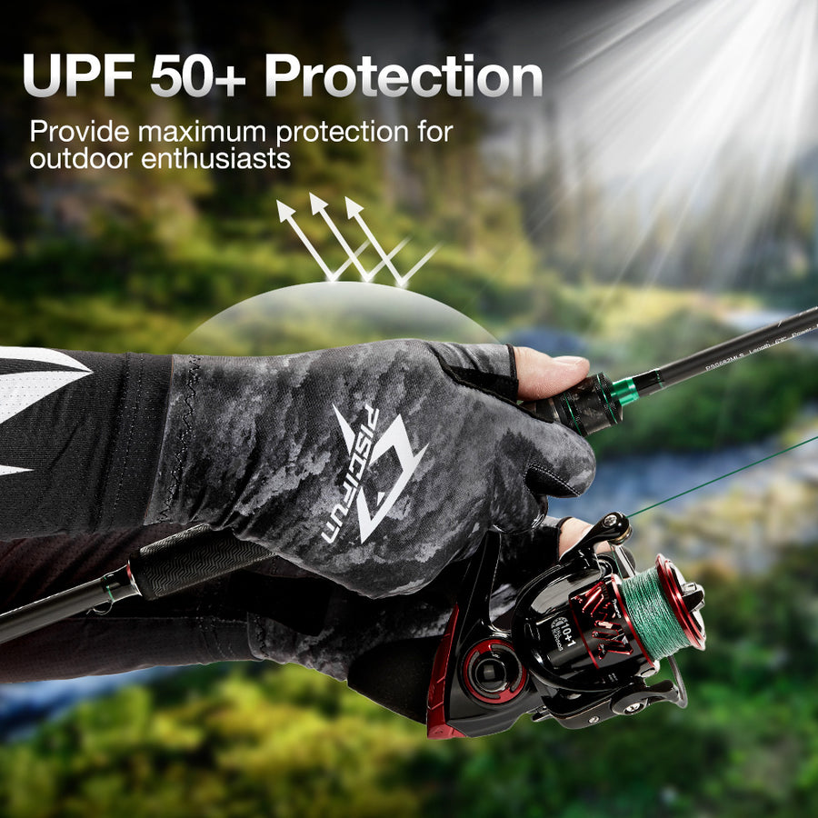 Piscifun® Suntist UV Fishing Fingerless Gloves Sun Protection UPF50+ Sun Gloves