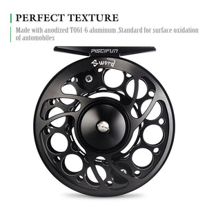 Piscifun® Sword Fly Fishing Reel Black