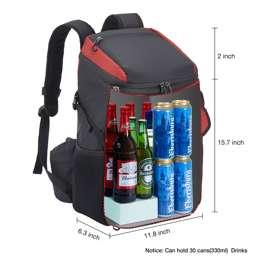 Piscifun® Cooler Backpack Bag with 9 Pack Cool Coolers