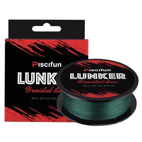 Piscifun® Lunker 547Yds/ 500M Braided Fishing Line Multifilament 10lb-80lb