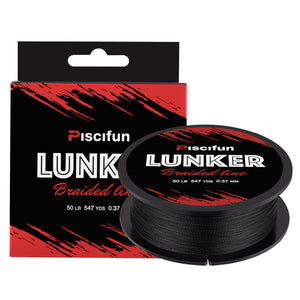 Piscifun® Lunker Braided Fishing Line 547Yds/ 500M 4 Strands