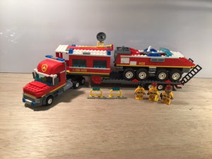 Pre-owned LEGO® 4430 Fire Transporter with 3 fireman