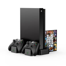 Vertical Charging Stand with 2 x Rechargeable Battery Packs: Black (Xbox One)