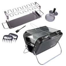 Portable Folding Picnic and Camping BBQ Grill and Accessory Set