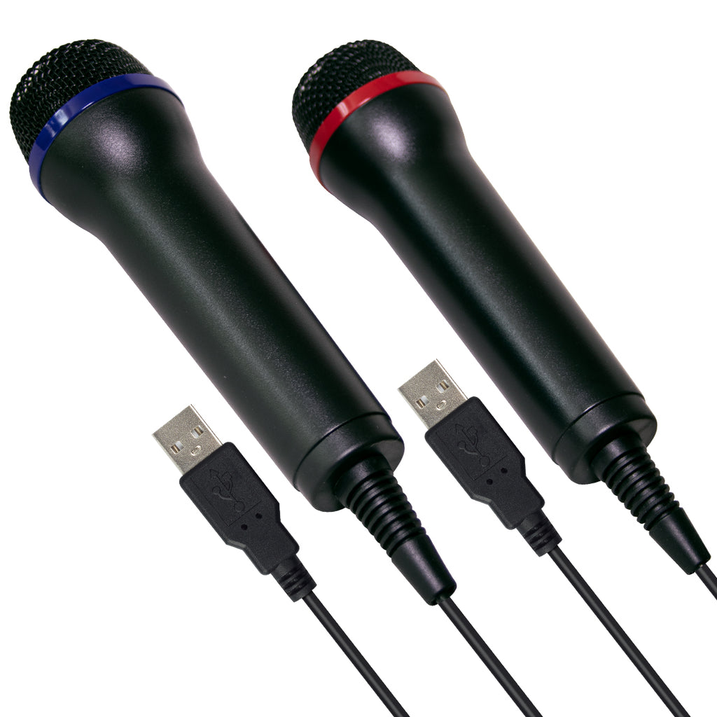 Multiformat USB Microphone Twin Pack (PS4 / Xbox One / Xbox 360 / PS3 / PC / Wii / Wii U)