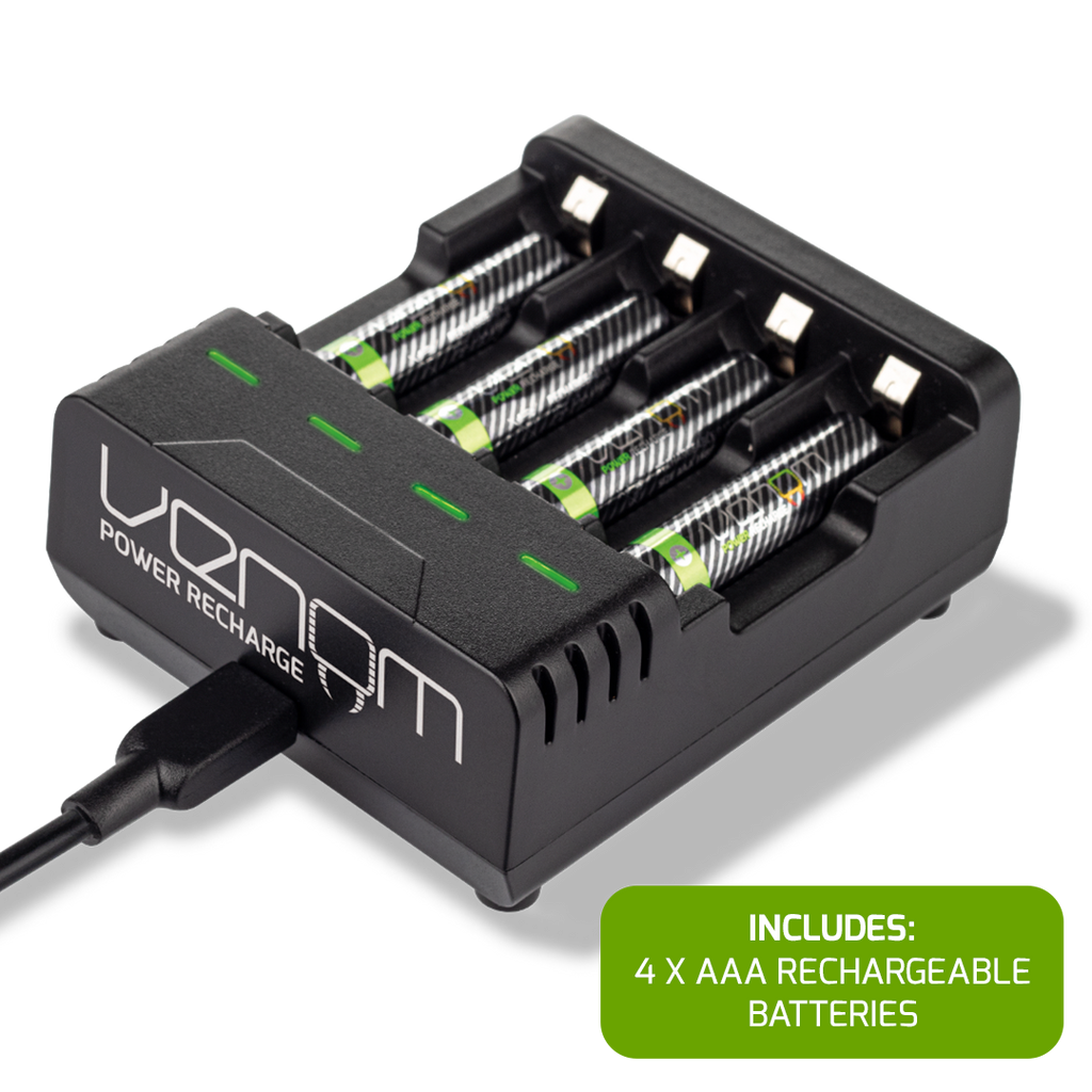 Venom Power Recharge - Charging Station plus 4 x AAA 800mAh Rechargeable Batteries