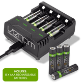 Rechargeable Battery Charging Dock plus 8 x AAA 800mAh Rechargeable Batteries