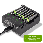 Venom Power Recharge - Charging Station plus 4 x AA 2100mAh Rechargeable Batteries