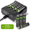 Rechargeable Battery Charging Dock plus 8 x AA 2100mAh Rechargeable Batteries