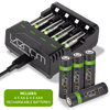 Rechargeable Battery Charging Dock plus 4 x AA 2100mAh & 4 x AAA 800mAh Rechargeable Batteries