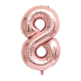 "Rose Gold Foil Party Balloon - 80cm (32"") - Number 8"