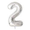 Happy 21st Birthday Balloon Banner Deluxe Party Pack - Silver
