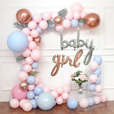 Baby Girl Gender Reveal Baby Shower Balloon Arch Decoration DIY Kit - Includes 100+ Balloons