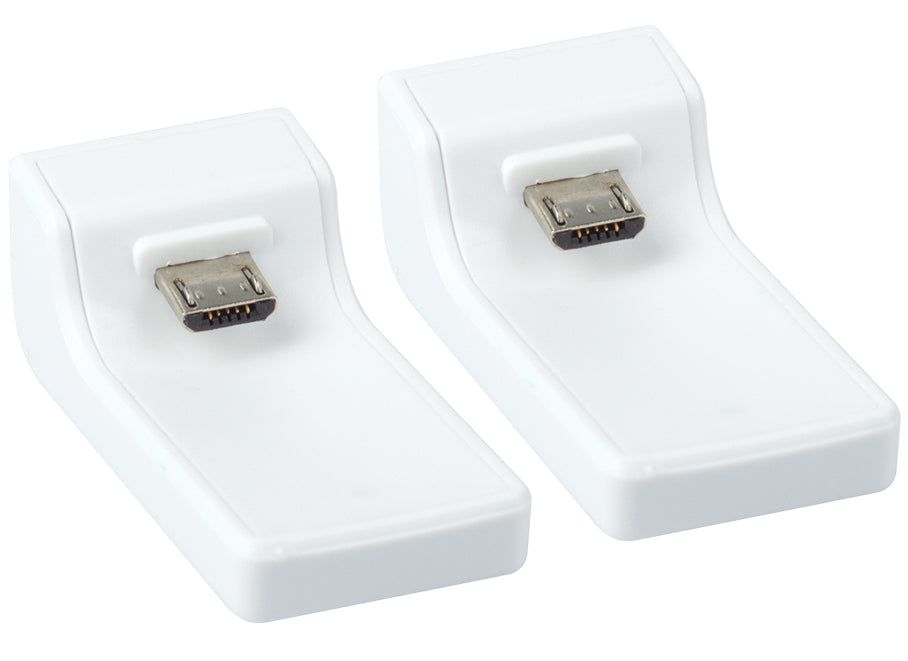 Replacement Charging Dongle Twin Pack for Venom PS4 Docking Station - White (PS4)